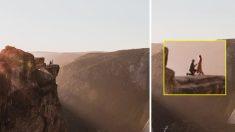 높이 2286m '프러포즈 명소'에서 커플 추락사