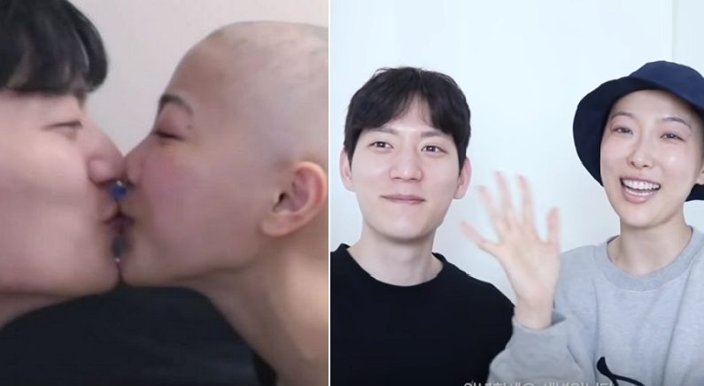 항암 치료로 머리 다 빠진 여자친구에게 남자친구가 건넨 사랑스러운 말