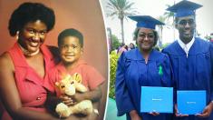 삶의 버팀목 된 엄마와 아들, 함께 한 영광의 졸업