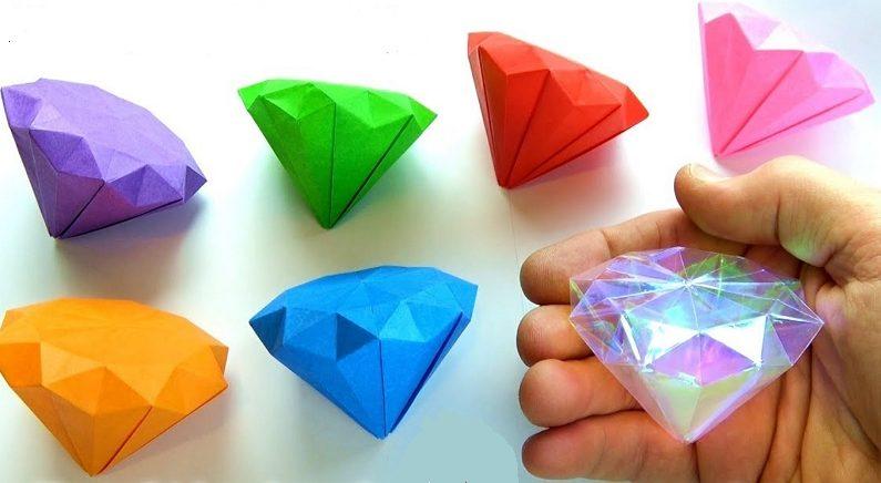 색종이로 반짝반짝 영롱한 '대형 다이아몬드' 접는 방법 (영상)