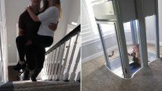 다리 불편한 약혼녀 위해 거실에 엘리베이터 '직접' 설치한 남자