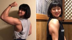 세계대회 출전해 '한국 신기록' 세운 수영선수의 팔근육