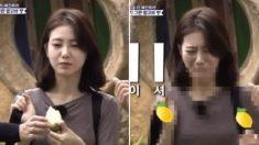 배우 신예은에게 덜 익은 망고를 주면 생기는 표정 변화 (영상)