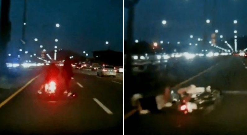 '셀프 횡단보도' 한남대교 가로질러 사고 일으키고 달아난 킥보드 운전자 검거