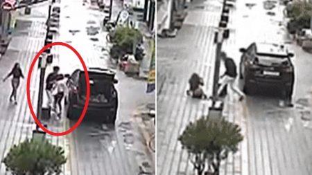 이별 통보한 여친 납치해 트렁크에 싣고 달아난 20대 남성 (CCTV 영상)