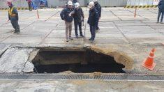 영등포 공사장 인근 도로 붕괴…매몰 1명 사망