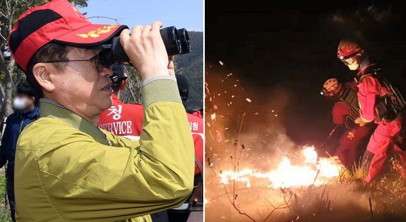 목숨 걸고 '안동 산불' 진압한 소방관들, 그 시각 국회의원들과 '술 파티' 연 경북도지사