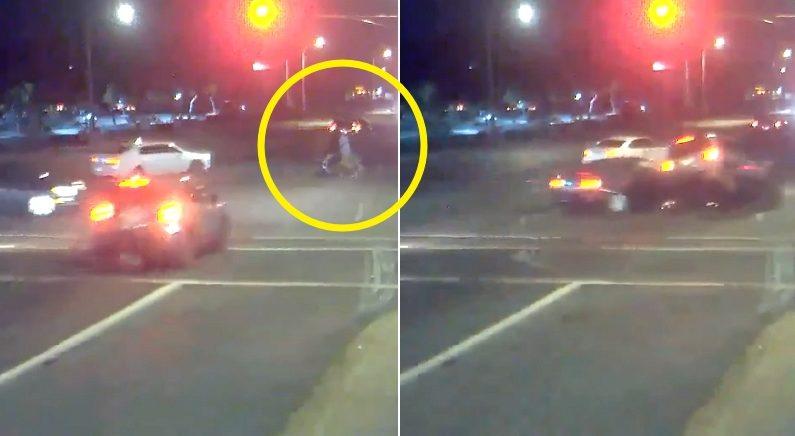 유모차 밀며 길 건너던 일가족 목숨을 살린 '교통사고'의 정체 (영상)