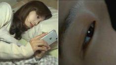 옆으로 누워서 스마트폰 하면 짝눈 심해져 '사시' 된다