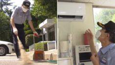 개인 사비로 아파트 경비실에 에어컨 설치해준 입주민
