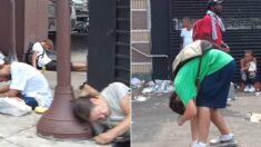 """""""마약중독자로 찌들었다"""" 2021년 9월 실제 미국 필라델피아 거리의 현실"""