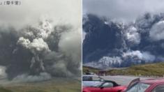 3.5㎞ 높이까지 화산재 내뿜으며 분화하는 일본 아소산 (영상)